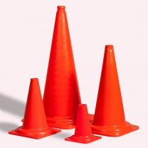 Verkeerskegel hoog 50 cm fluor oranje
