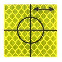 Retro Tape Targets 40x40 mm geel (p. st.)