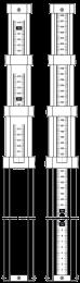 Telescopische baak 5m verdeling achterkant 2