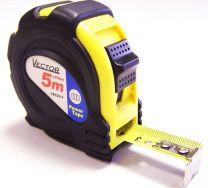 Vector Rolbandmaat staal 5m*19mm gele ABS kast/rubber/magn